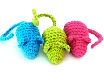 Kitty Catnip Mice - Choose Your Colors - Catnip Toy