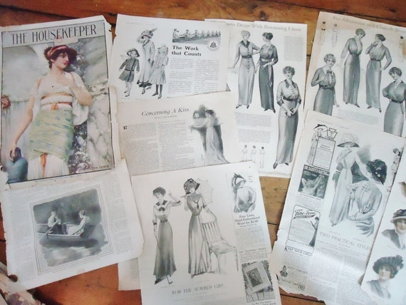 RESERVED for Lora - 50 Antique Magazine Pages and Advertisements
