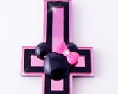 Minnie Mouse Inverted Cross necklace.