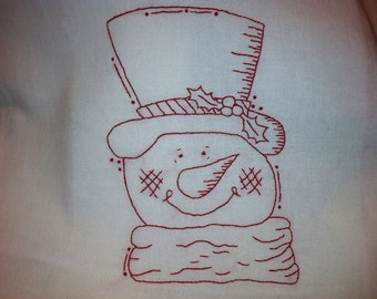 Top Hat Snowman Pattern