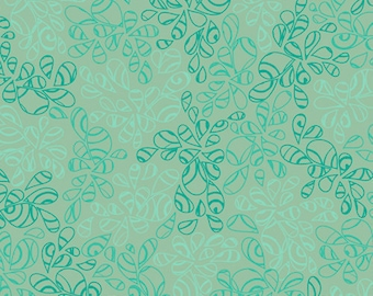 Nature Elements BLUE GREEN NE-113 Patricia Bravo Art Gallery Fabrics - By the Yard