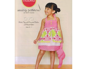 Ava Girls Halter Top & Skirt Sewing Pattern by Patty Young of Modkid