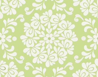 Priscilla Ball Green c3363 - Lila Tueller - Riley Blake Designs Fabric - By the Yard