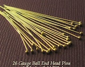 26 Gauge Gold Filled Headpins with Ball End - 1.5 Inch - 25 pcs - HB8b