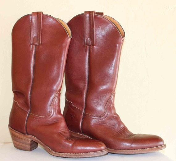 Frye  Brown Cowboy Boots Size 7 B