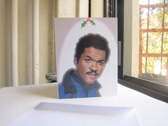Star Wars Christmas Cards - Lando'ed on the Nice List