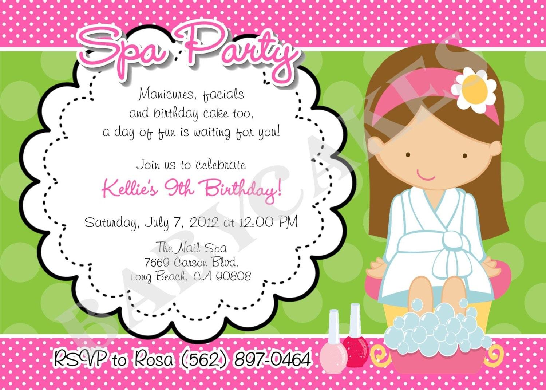 Spa Invitation Wording as amazing invitations ideas
