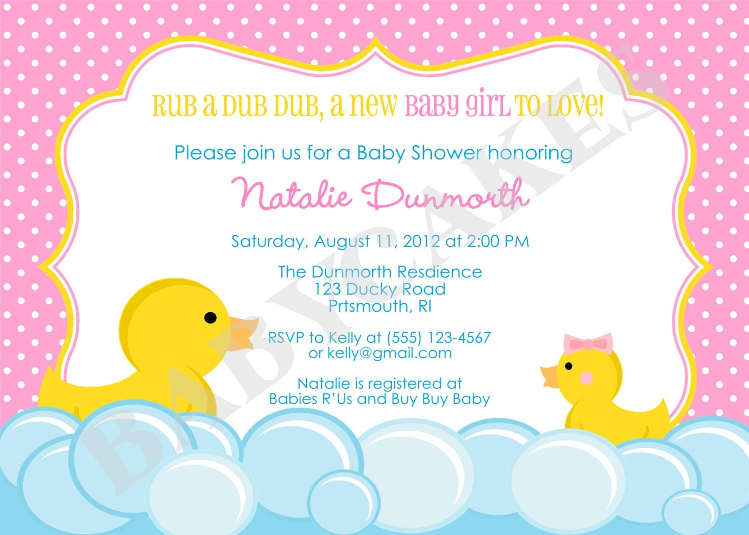 rubber duck baby shower invitation rubber duckie invitation