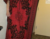 SpIcY rEd  kaftan dress- maxi, gown, dress, beach cover up, lounge, beach, spa, best gift ever