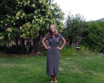 SALE...long dress, Polka DOT Black n' White , Women's size 6