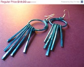 Sale - 20% Off Blue Aluminum Fringe Earrings