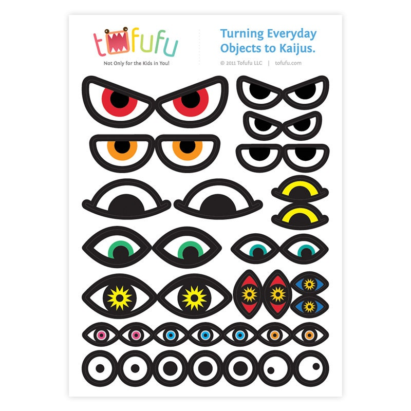 Monster Eyes Sticker Sheet : Customize Everyday by TofufuStudio