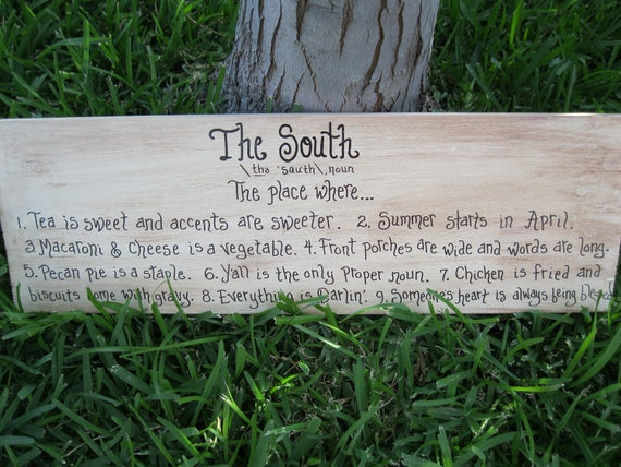 Jez4U Custom painted The SOUTH sign with or with out scroll detail Custom order your own sign