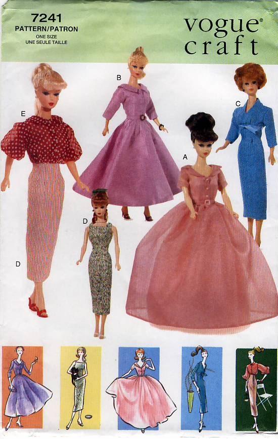 Vogue Craft 7241 Vintage Clothes For 11 5 Fashion Barbie