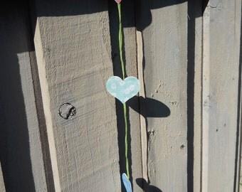 Summer Love Vertical Heart Banner