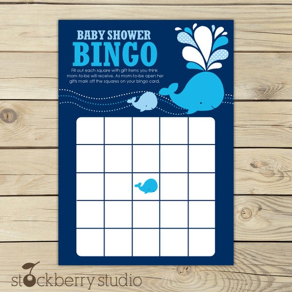 Baby bingo nautical bingo cards boy baby shower games baby