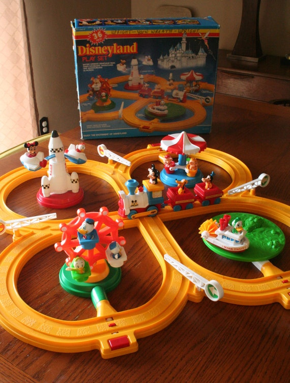 Vintage Disneyland Playset -Train Set - 36 Pieces - Battery Operated - With Original Box - Collectible - Complete Set
