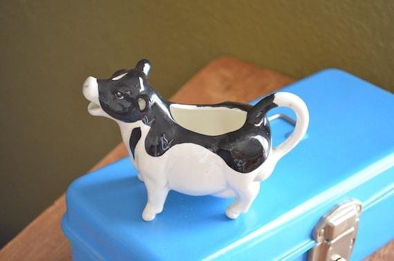 Vintage Cow Creamer Black And White Animal Kitchen Display