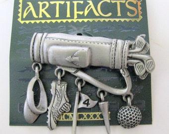Jonette Jewelry Vintage Golfer Pin Brooch