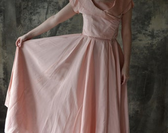 1940s Light Pink Gown.
