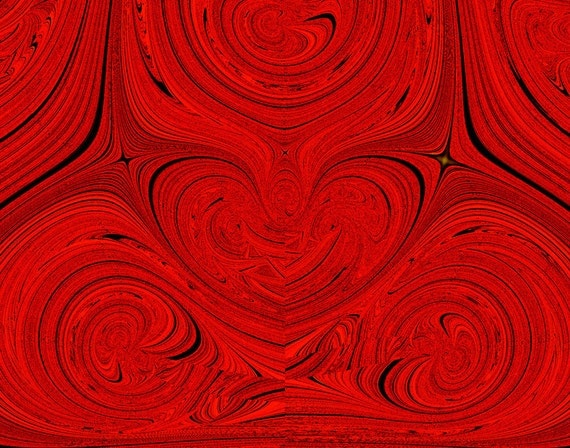 """Red ... red ... more red, black, """"Heart's Desire"""", love & romance, wall decor, bold fine art abstract, 11x14"""" Giclee print"""