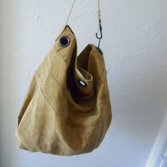 Recycled Military Canvas Tote