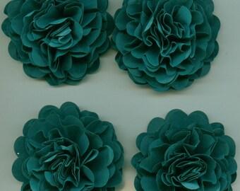 Dark Teal Carnation Paper Flowers
