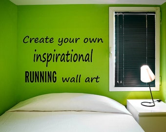 inspirational wall decal for runners