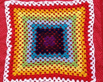Rainbow Babyblanket or Lapblanket crochet pdf pattern instant download