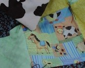 Custom Order for LittleLu4U - Hand Tied Quilted Baby Blanket - Barn Yard Pals
