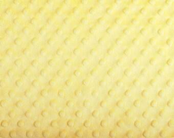 Sunshine Yellow Cuddle Dimple Dot Minky by Shannon Fabrics, 1 yard