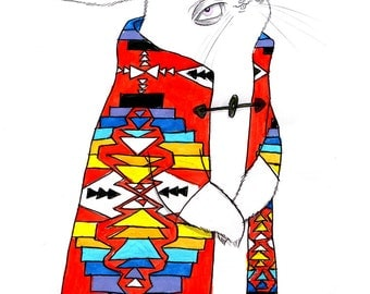 Native Print Bunny