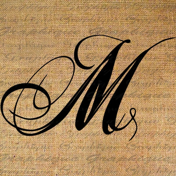 Monogram Initial Letter M Digital Collage Sheet By Graphique