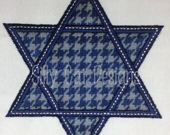 Star of David Applique Design