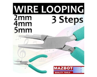 "5.5"" Mazbot Wire Looping 3 STEPS Pliers WFP02"