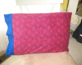 Red Blue Flannel Pillowcase