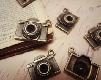 10pcs Antiqued Bronze 19x14mm Camera Travel Theme Connectors Charms Pendants Drops HK-J51