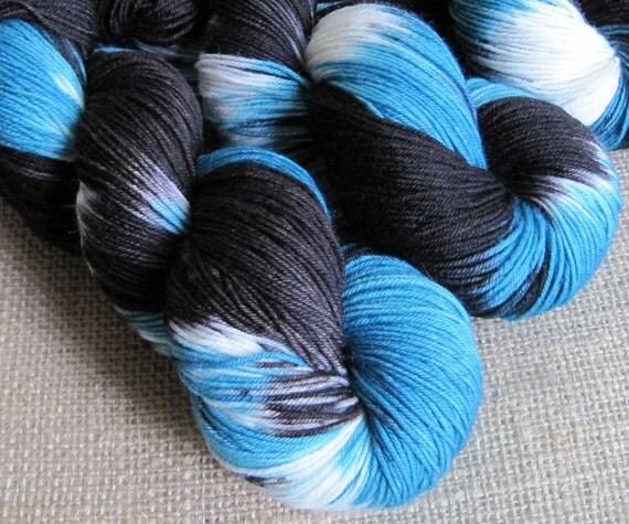 Nightwing - SW Merino & Nylon Fingering Sock Yarn - Hand Dyed - 462 yds