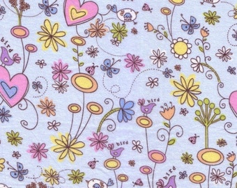 Colorbok - Butterfly Garden - Flannel  Fabric BTY