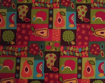 Fruit Filled Day Squares - Fabric - Rare - OOP - 40 inches - End of bolt