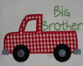 Big or Little Brother or Sister Truck Applique Shirt
