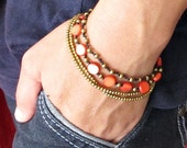 Touch of Nature Red Mother Pearl Shell Bracelet