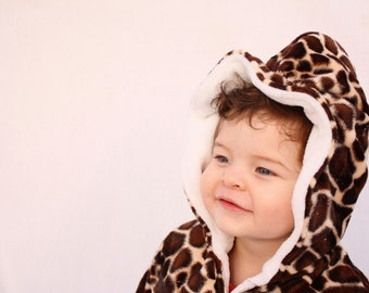 Baby girl coat, girls coat, Giraffe print jacket, baby girl coat