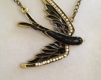 Bird Crystal Necklace