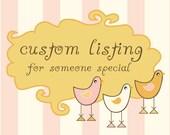 Custom Listing for Bailey