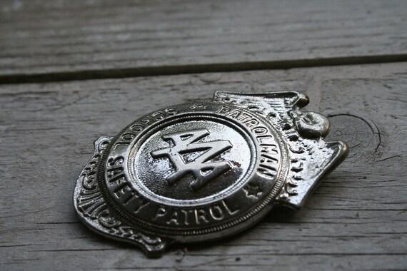 Vintage AAA  Patrolman School Safety Patrol Badge.