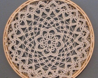 Earring Holder/ Organizer Repurposed Vintage Crocheted Doily