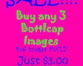 Sale 3 Bottlecap Images