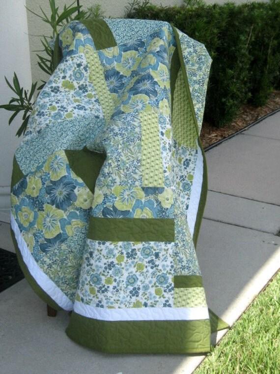 Blues/Green - Modern/Contemporary Quilt