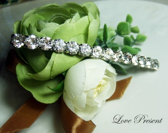 Supreme Extra Shine Bridal Hair Jewlery Hair Barrette with Swarovski Crystal - Bridesmaids Gift - Color Clear Crystal